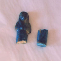 Before Photo - Egyptian Faience Shabti