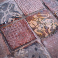 After Photo - Lead glaze medieval tiles 13th century